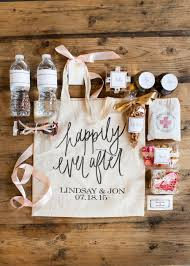 10 great ideas for your wedding welcome bags wedding goodies Wedding Etiquette Out Of Town Guests Gift the gift insider's wedding welcome totes and hangover kits wedding etiquette out of town guests gift