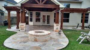 stamped concrete and outdoor kitchens houston