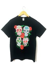 <b>Vintage Floral Skull</b> Printed T-shirt (Plain at the back) | COMFIGEAR