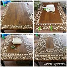 Indian Inlay Stenciled Tabletop. Diy Home DecorDecor ...