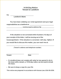 Notice To Vacate Letter Landlord Notice To Vacate Template