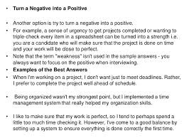 Sample Weaknesses For Interview What Is Your Greatest Weakness Interview Question Answer