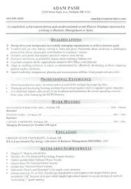 Amazing Sample Resume For Business Administration Graduate For
