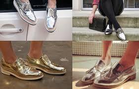 Resultado de imagem para sapatos metalizados