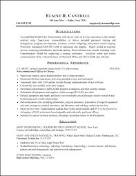 Army Resume
