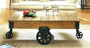 industrial coffee table with wheels industrial coffee table on wheels french industrial living room round coffee