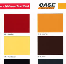 Tisco Paint Color Chart Power Tan Vs Dersert Sand Sunset Yesterdays Tractors