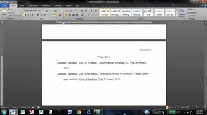 how to make an mla works cited page in word