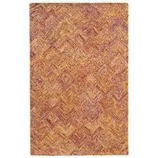 pantone universe colorscape orange and pink rectangular 5 ft x 8 ft rug