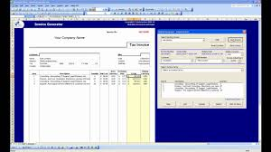 Generate Invoices Excel Invoice Generator Demo YouTube 15