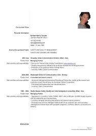 Formal Cv Sample Professional Resume Templates