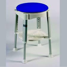 bath stool with rotating padded seat