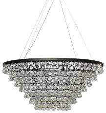 celeste tapered glass drop crystal chandelier black contemporary