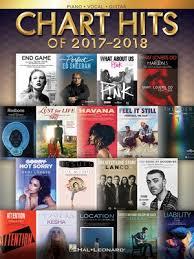 Chart Hits Of 2017 2018 Hal Leonard Australia