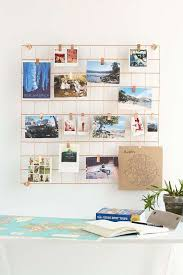 Free Interior Design Ideas For Home Decor Amazing Golden Wire Wall Grid Shelf FREE Clips Gold Photo Mesh Memo