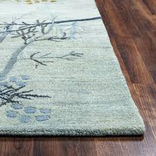 rugs craft hand tufted rug blue trees wool latest bedding what is a meaning botanical