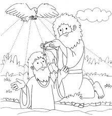 John The Baptist Coloring Pages Inside Jesus Baptism Page - glum.me