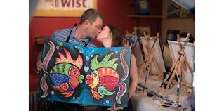 painting with a twist couple romance