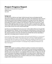 Project Progress Report Sample Sample Project Report 29 Examples In Pdf Word