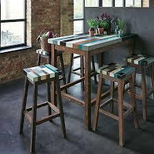 Table Haute Cuisine De Bar Style Industriel Sofamobili Table Bar