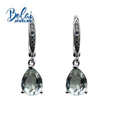<b>Bolaijewelry</b>,100% Natural green amethyst gemstone small earrings ...