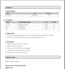 Ms Word Resume Format 6 Resume Format For Freshers Teacher In Ms