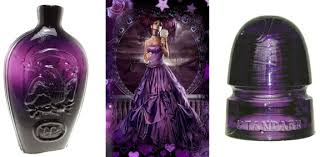 the color purple or amethyst in antique glass