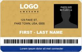 Company Id Card Template Microsoft Word Id Card Templates