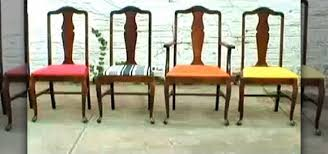 how to re upholster vine dining room chairs construction repair wonderhowto