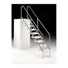 Innenteil 120cm, aussenteil 40cm, 1x4 / 1x1 stufe beckentiefe 150cm: Schwimmbad Treppe 500mm 5 Stufen Leiter Treppe V4a Leiter Treppe Komponenten Pool