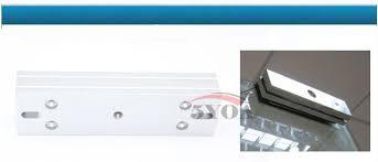magnetic lock u shape bracket for 280kg 600lbs frameless glass door access control system