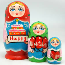 happy birthday to you 3 nest doll russian matryoshka wooden stacking nested dolls wooden handmade toys gift for children mother s day birthday