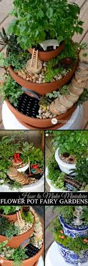 how to make miniature flower pot fairy gardens michaelsmakers