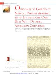 24 Hour Chart Check Nursing Pdf Outcomes Of Emergency Medical Patients Admitted To An