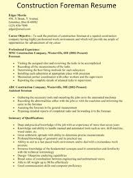 Sample Of Construction Resume Construction Manager Resume Example