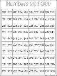 300 Number Chart Single Laminated Black And White Numbers 201 300 Classroom