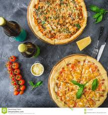 delicious food background. Plain Food Download Delicious Pizza With Bacon Cheese Tomato And Beer On Dark  Background Flat For Food Background C