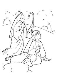 New Post Christmas Shepherds Coloring Pages