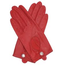dents las red driving gloves