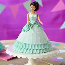 Cool Blue Barbie Cake