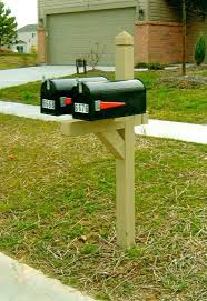 Double Mailbox Post Pm Tan Twin With Standard Mailboxes Stick On