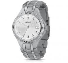 relic by fossil silver dial quartz movement calendar stainless relic by fossil silver dial quartz movement calendar stainless steel bracelet men s watch for 19 99