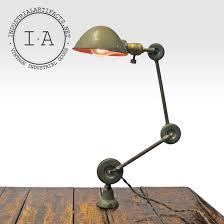 vintage edon desk wall mount articulating task lamp