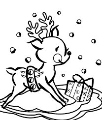 Small Picture Reindeer Face Coloring Page glumme