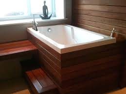 japanese tub bathroom with small deep soaking bathtub near wood bench seat wooden bath australia japanese tub