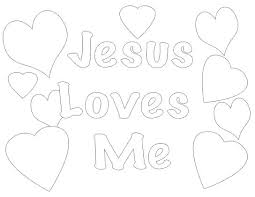 Jesus Loves Me Colouring Pages Printable Coloring Small Page New