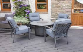alabama round gas fire pit lounge set