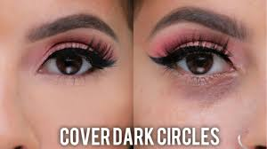 how to cover dark circles under eye bags