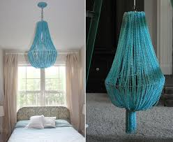 lighting turquoise beaded chandelier above the bed regarding decorations 19