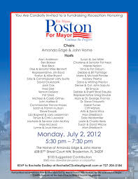 political fundraiser invite wayne poston for city of bradenton mayor onmessage strategic